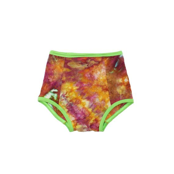 High Waisted Panties Hand Dyed