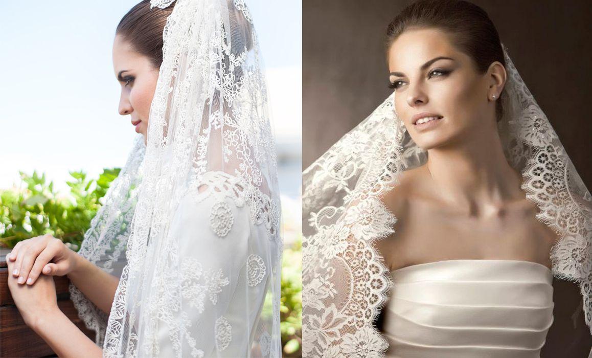 velos de novia diseños y tendencias - mantilla española | VELOS Y ...