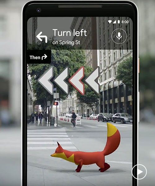 google reveals guiding fox in revised augmented reality