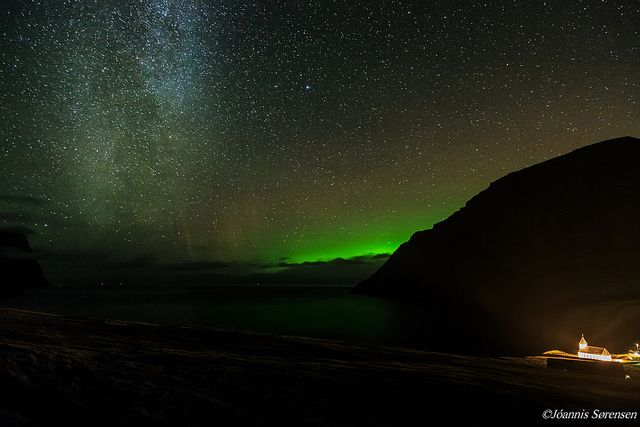 Milkyway and aurora borealis by Jóannis Sørensen #photography