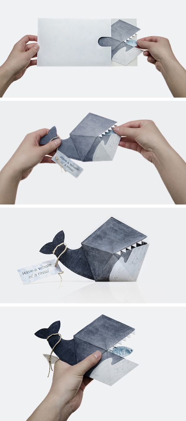 Have A WHALE Of A Time Get WHALE Etc Start W Hexagons - How to make a pop up birthday invitation