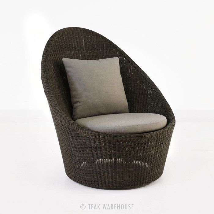 Sunai High-Back Wicker Relaxing Swivel Chair | outdoor bench | Pinterest