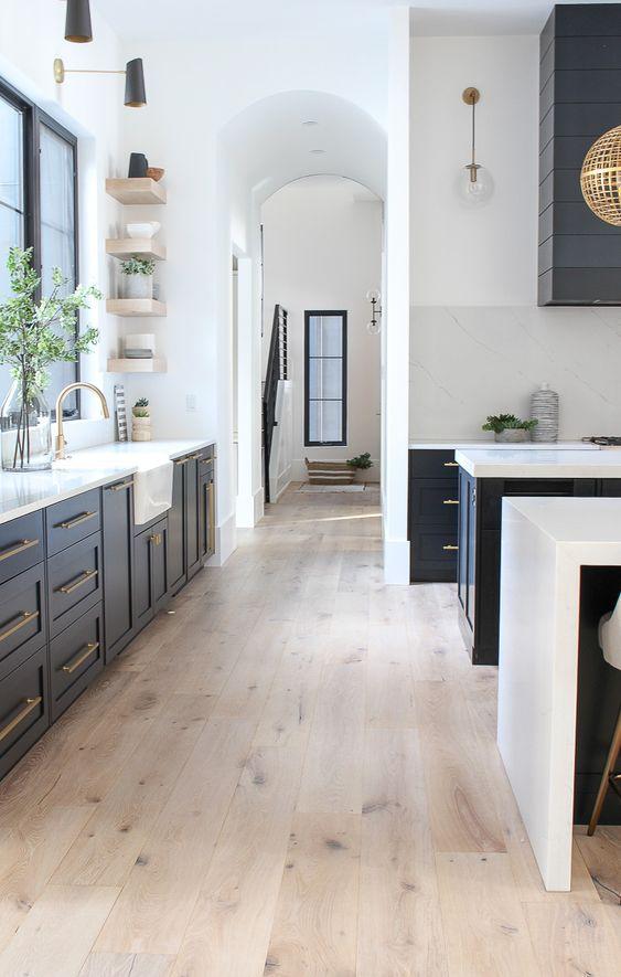 Inspiring Kitchen Design Ideas From Pinterest Jane At Home Inspiring Kitchen Desi In 2020 Modern Kitchen Design Kitchen Inspiration Design Modern Farmhouse Kitchens