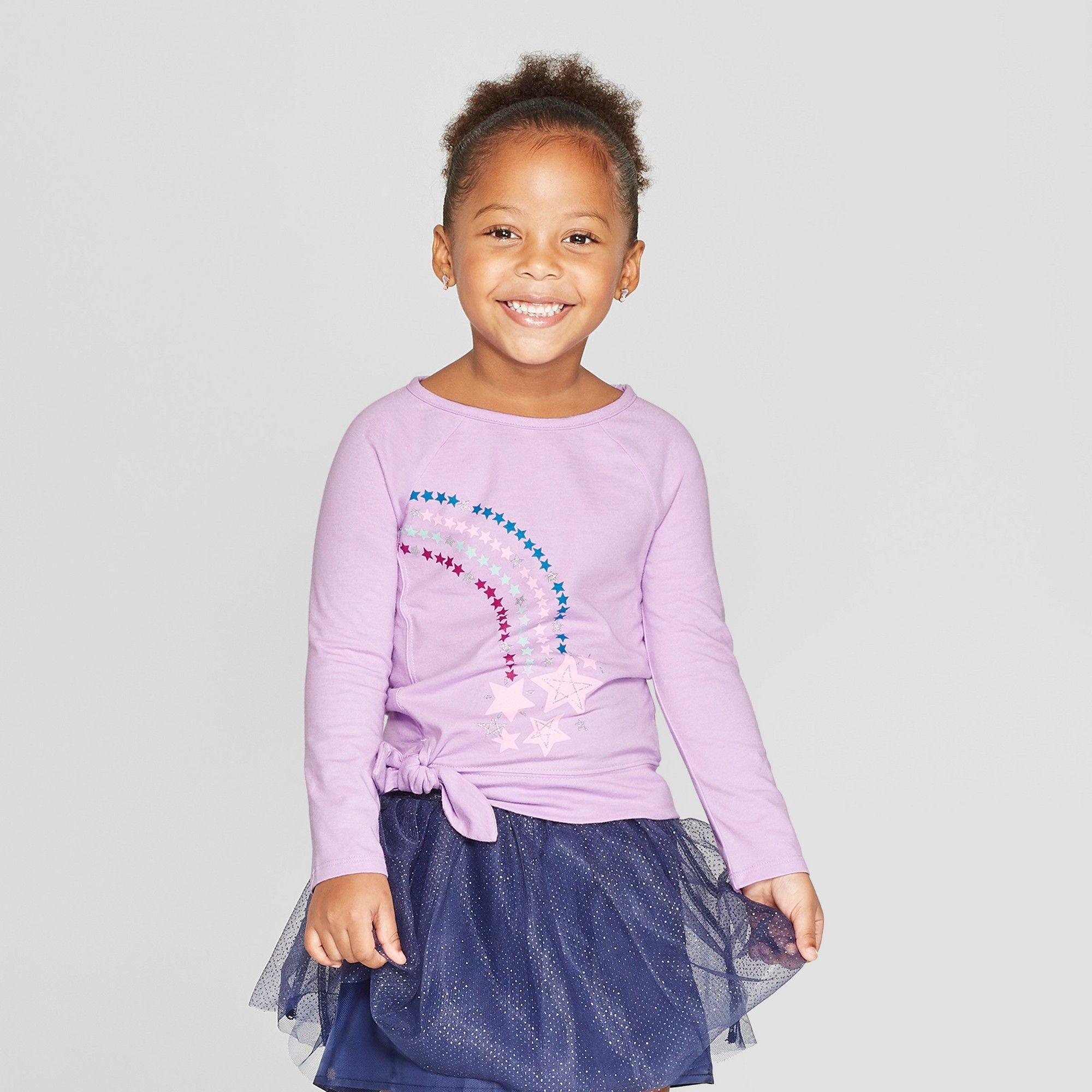 41073968 Toddler Girls' Long Sleeve T-Shirt - Cat & Jack Purple 18M ...
