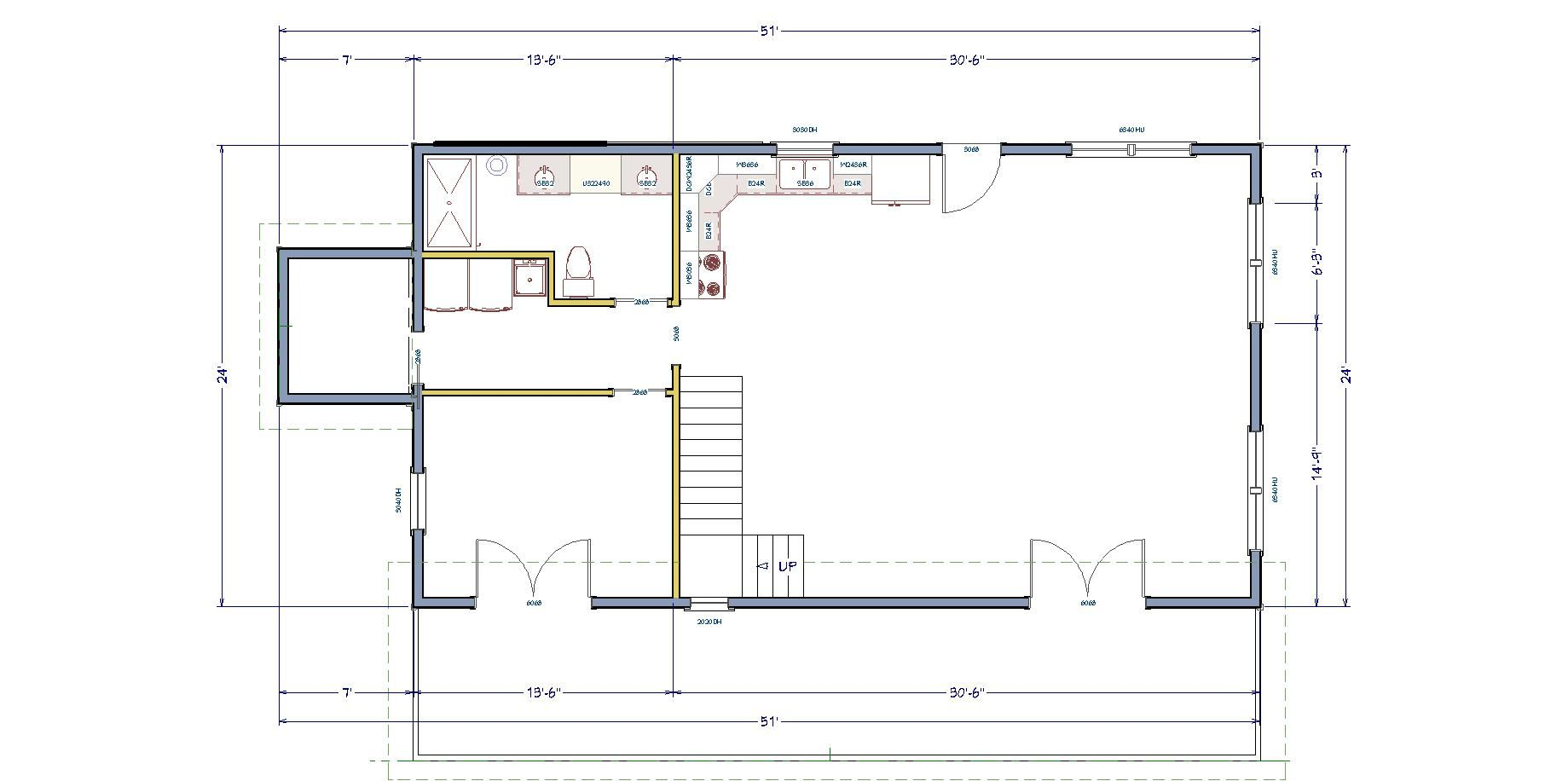 The simple house floor plan making the most of a small space for Piani di casa di campagna 1500 sq ft