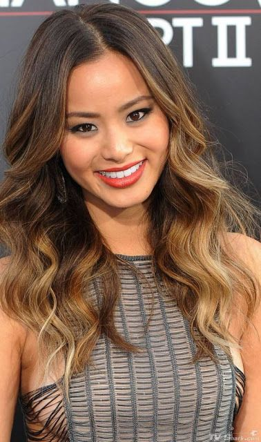 Jamie Chung's ombré look   Beauty.   Ombre Hair, Asian ...