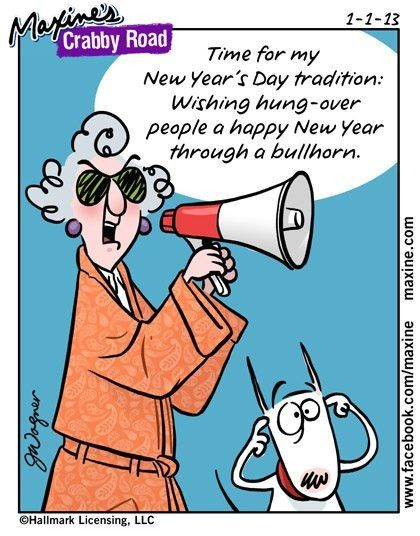 Maxine Wishes You A Healthy New Year Lol Maxine Funny New Year Happy New Year