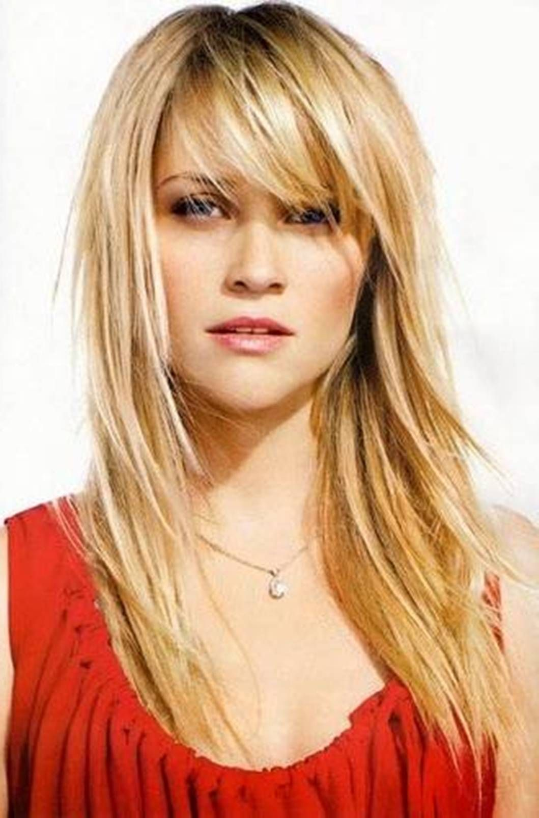 Reese Witherspoon Layered Long Hairut Jpg 1059 1605 Bangs With Medium Hair Hair Styles Easy Hairstyles For Long Hair