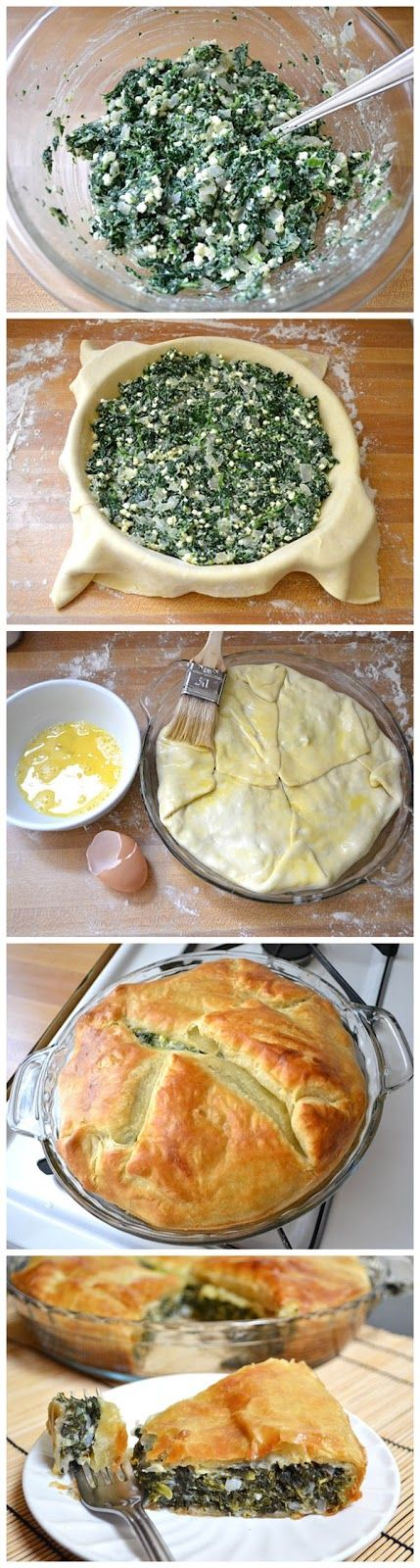 Easy Delicious Homemade Spinach Pie with Puff Past