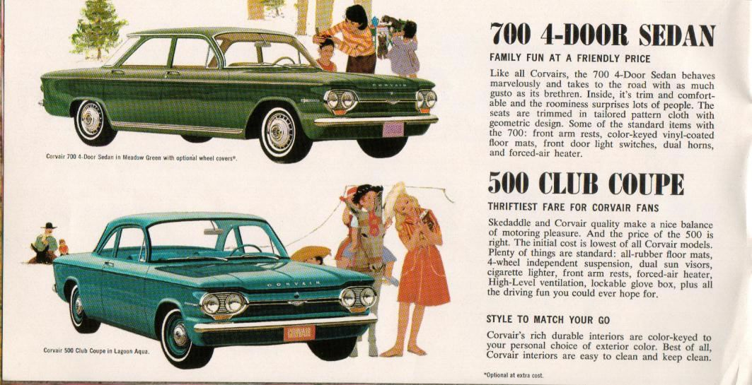 1964 Corvair Brochure Corvair 64p08 Jpg Chevy Corvair Chevrolet Corvair Automobile Advertising