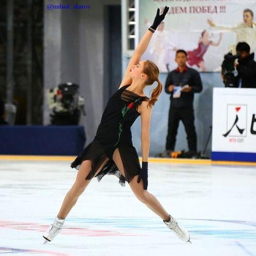 Anna Pogorilaya Practising At The 2016 Rostelecom Cup