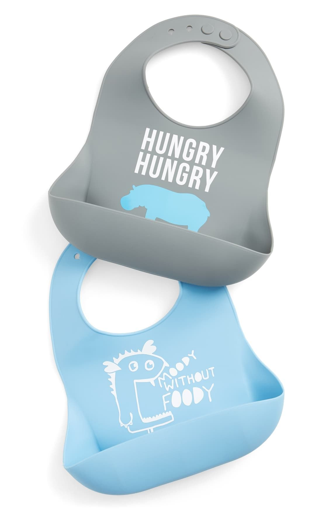 Hungry Hungry Hippo Gray Wonder Bib by Bella Tunno Baby