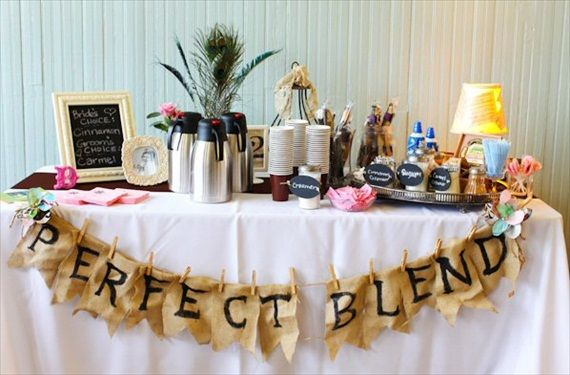 Coffee bar wedding perfect blend banner via 7 things every for Things in a coffee bar