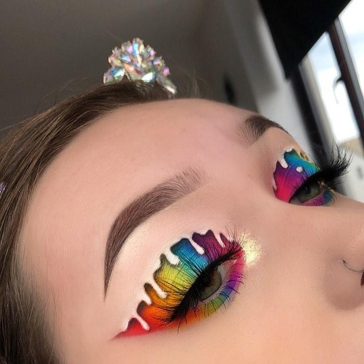 Rainbow Eyeshadow Drip Creative Eye Makeup Artistry Makeup