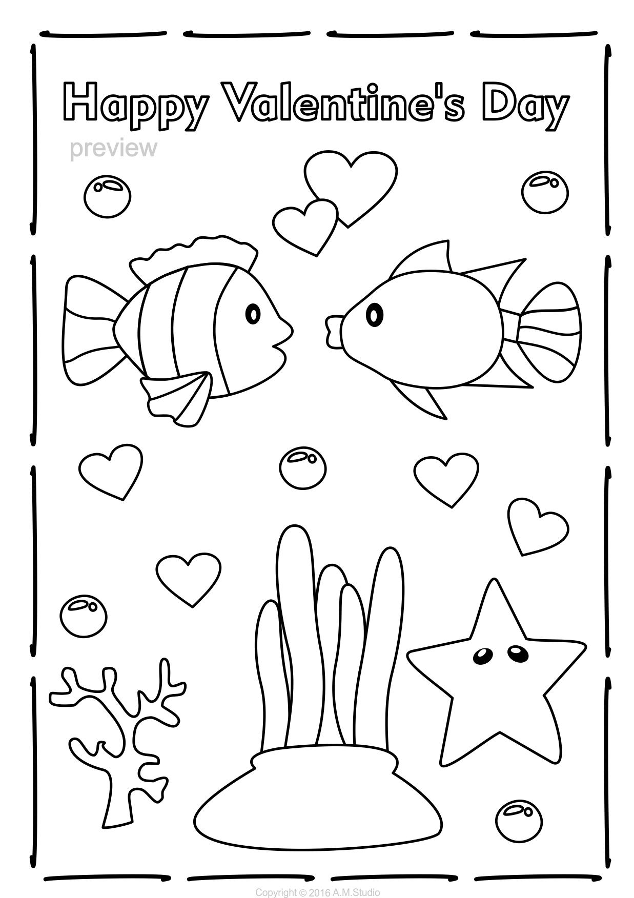 Valentine S Day Coloring Pages Boyama Sayfalari