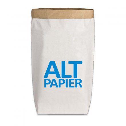 17;30 Paperbag Gr. L Altpapier weiß/blau