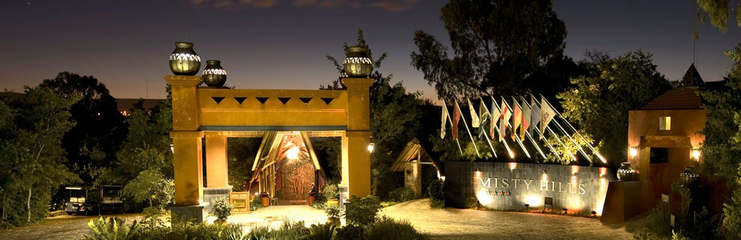Misty Hills Country Hotel Conference Centre & Spa - Johannesburg, South Africa  Nestled in the Swartkop Mountains and countryside just beyond Johannesburg, a luxurious retreat with rustic charm and natural elegance.
