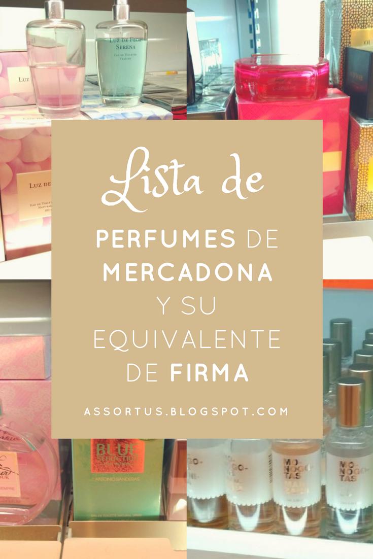 Perfumes y colonias de Mercadona que son clones o