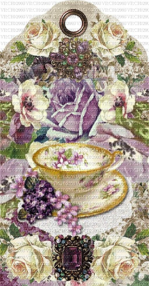 Victorian Rose Tags | Very Victorian© Roses & Lilacs Ladies Set Of 4 E-Tags
