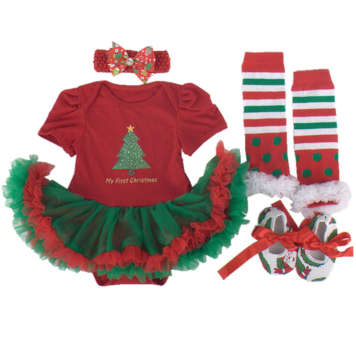 30c31cd4f Baby Girls Christmas Theme Romper Tutu Skirt Dress Outfits L GreenTree ***  You can get additional details at the image link.