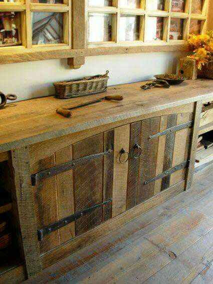 Rm Decor For Log Home Barn Wood Cabinets Rustic Cabinets
