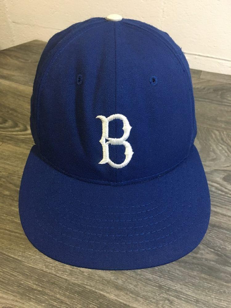 219803845 Brooklyn Dodgers Hat Vtg 70s USA Mass Roman Pro MLB Baseball Cap Fitted 7  5/8 #RomanPro #mint #brooklynDodgers #baseball #mlb