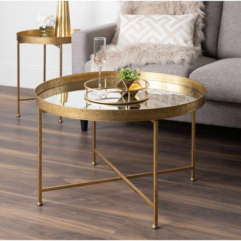 Bungalow rose kriebel metal foldable lift top coffee table