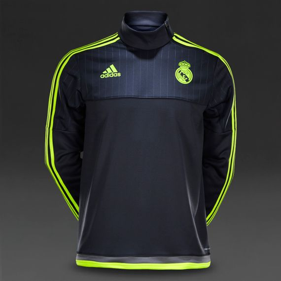 1b5ef80981a adidas Real Madrid 15 16 Training Top - Deepest Space Solar Yellow Grey