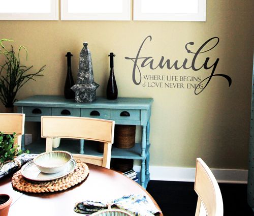 Family Where Life Begins and Love Never Ends Wall Decals from www.tradingphrase...