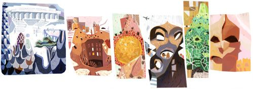Google's doodle celebrates the 161st birthday of Antoni Gaudí, the Catalan architect whose iconic buildings have left an indelible mark on Barcelona.