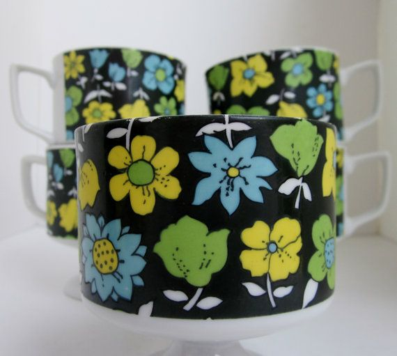 Vintage Set of 5 Cups from ARNART 5th AVE  by HappilyEraAfter, $28.00