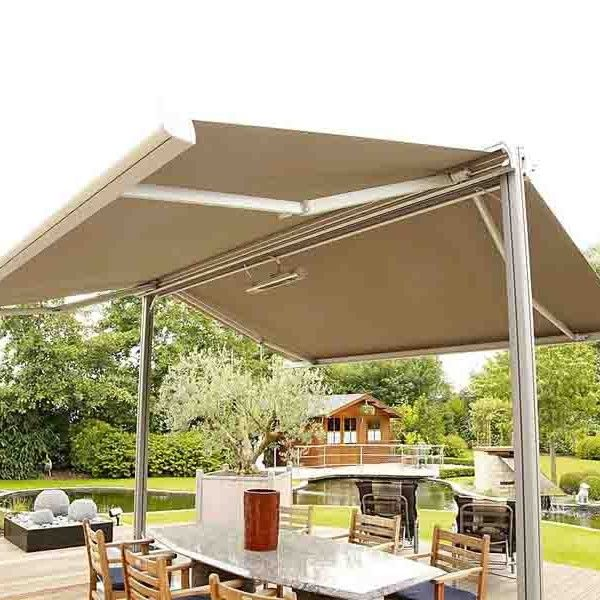 Double Sided Retractable Awnings Are Extremely Easy To Operate Last For A Long Time For More Check Our Retractable Awning Rectangular Patio Umbrella Awning