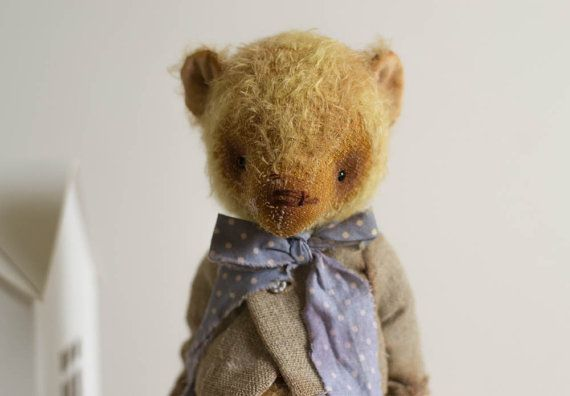 Artist Teddy Bears Stuffed Teddy Bear Evgeny by annapavlovna, $259.00