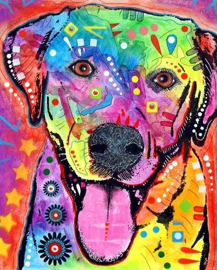 dean russo labrador happy lab painting by dean russo happy lab fine art prints - Dean Russo
