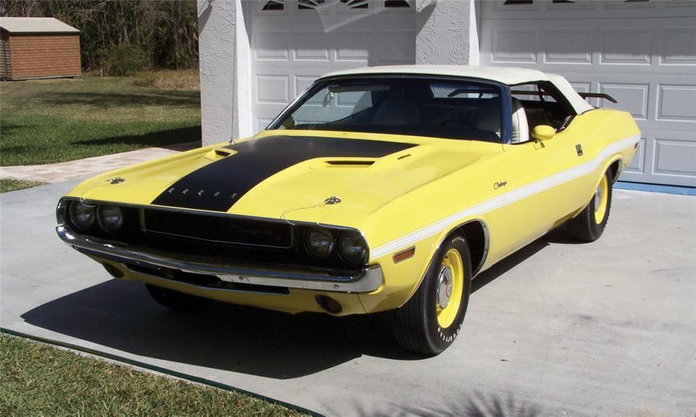 1970 Dodge Challenger R T Convertible Fy1 Top Banana Paint Mopar Dodge Muscle Cars Mopar Cars
