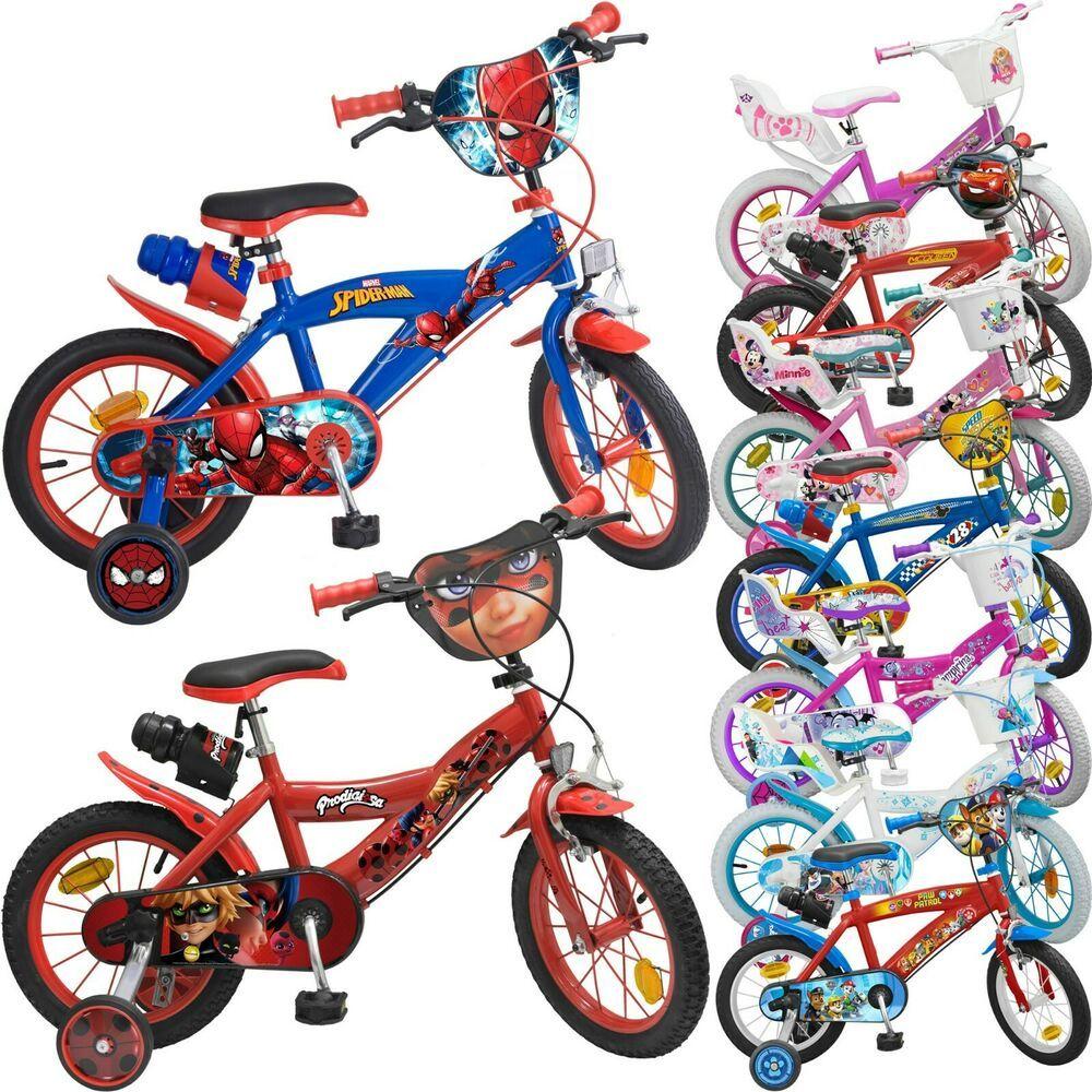 Disney Kinderfahrrad 14 Zoll Kinder Fahrrad Statzrader Flasche