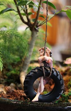 Amazing Tonkadale Greenhouse Fairy Garden Tire Swing Use Ferns For Trees, Lipstick  Or Goldfish Plant For