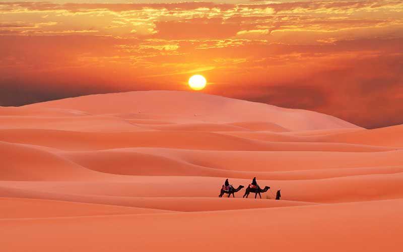 Desierto Puestas De Sol Paisajes Hermosa Naturaleza