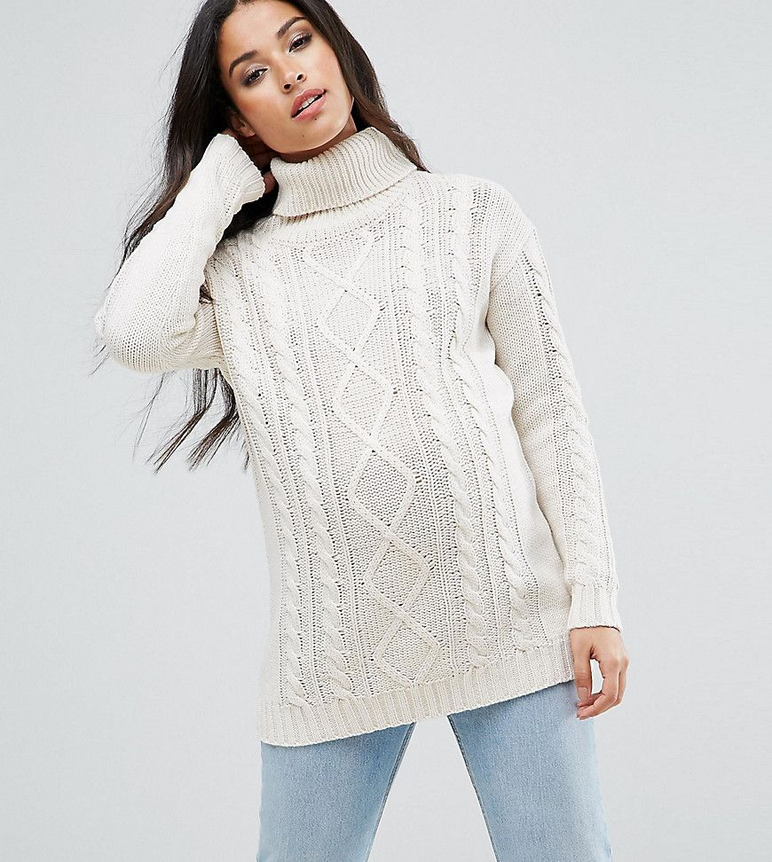79c8404eb0e9 Mamalicious Cable Knit Roll Neck Sweater | Products | Roll neck ...