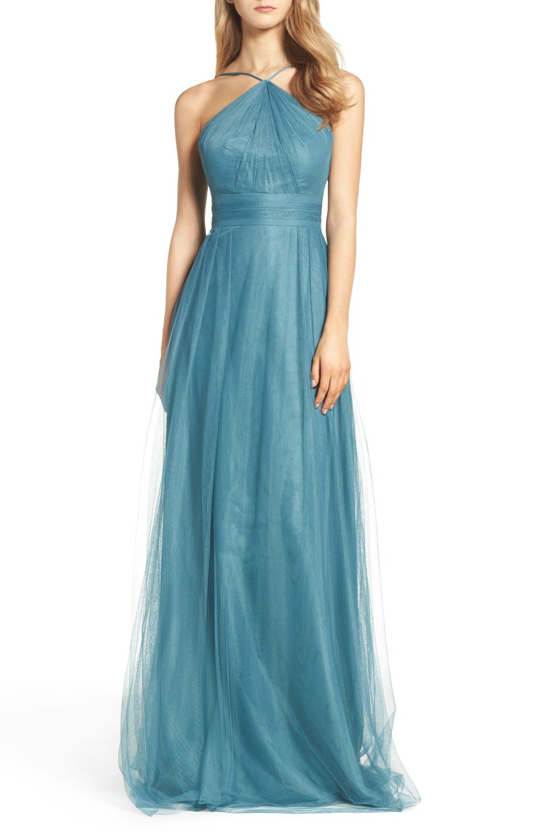 Tulle Halter Style Gown | Blue Wedding Ideas | Pinterest | Gowns and ...