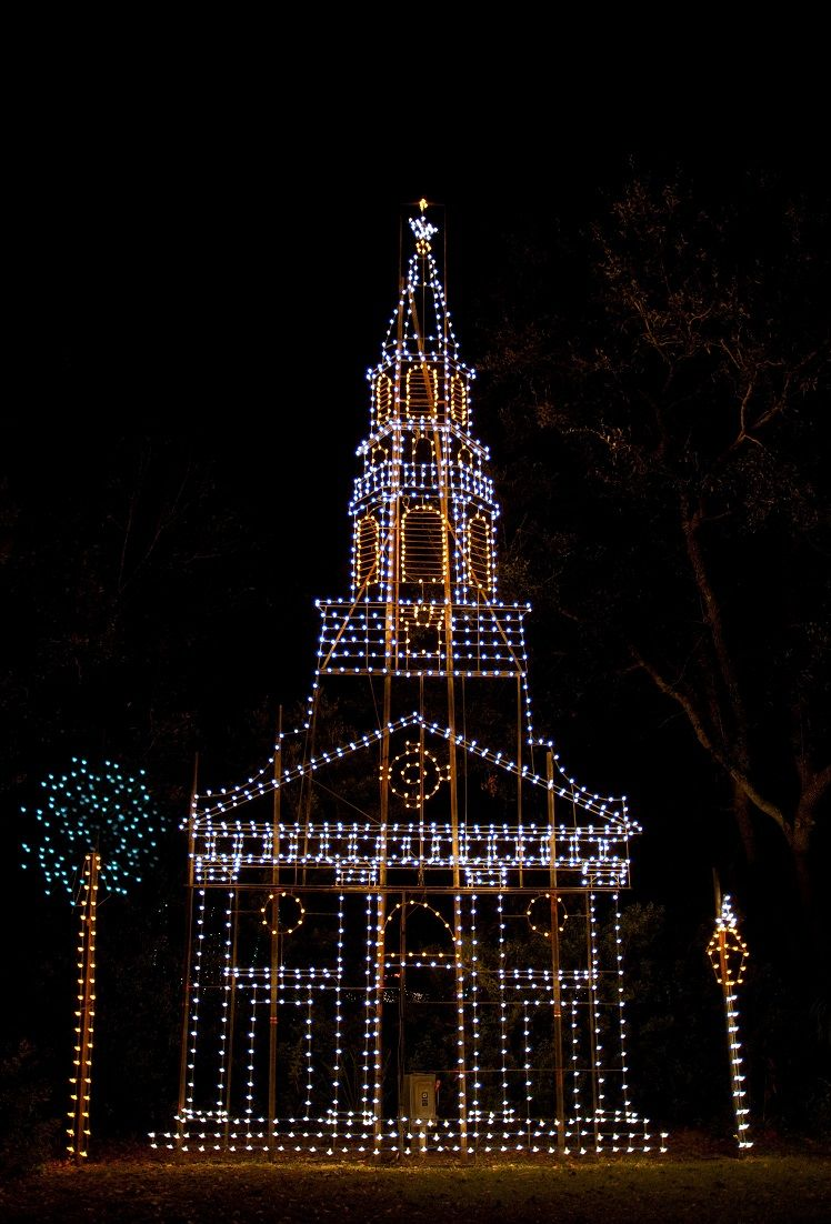 the holiday festival of lights in james island county park charleston sc