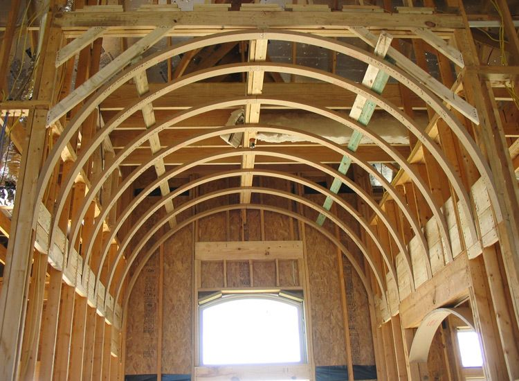 Barrel Vault Ceiling Systems | Prefabricated Barrel Vaulted Ceiling Framing