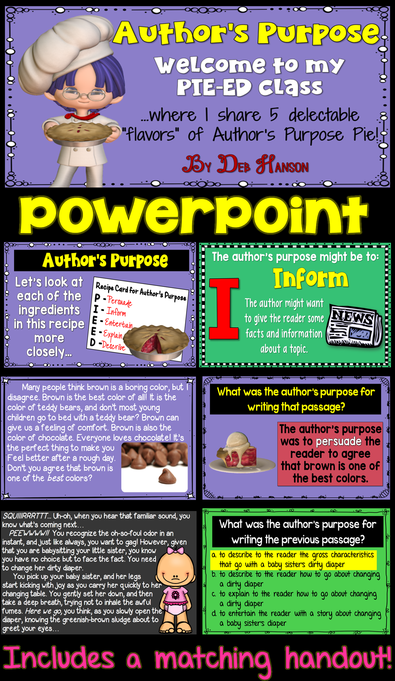 Author S Purpose Powerpoint Pie Ed With Distance Learning