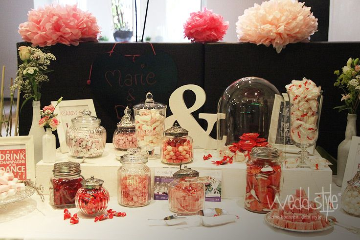 candy bar mit gl sern glas gloche weddstyle. Black Bedroom Furniture Sets. Home Design Ideas