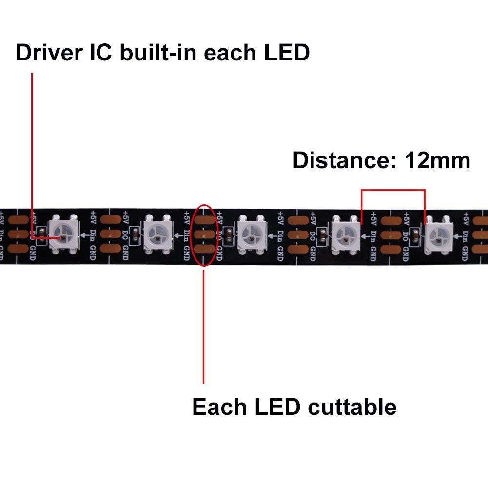RGB SMD Led with wit integrated WS2812B Chip | WS2812 | Led