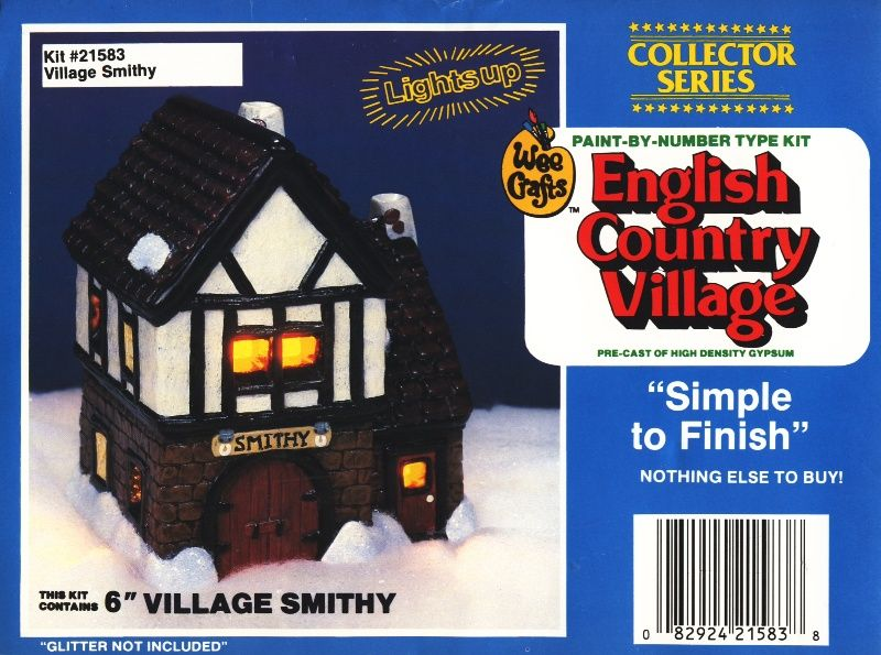 WEE CRAFTS CHRISTMAS ENGLISH COUNTRY VILLAGE Hillside Cottage NOS 21582