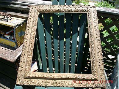 Huge Large Antique Carved Gilt Vintage Wood Picture Frame 1800s