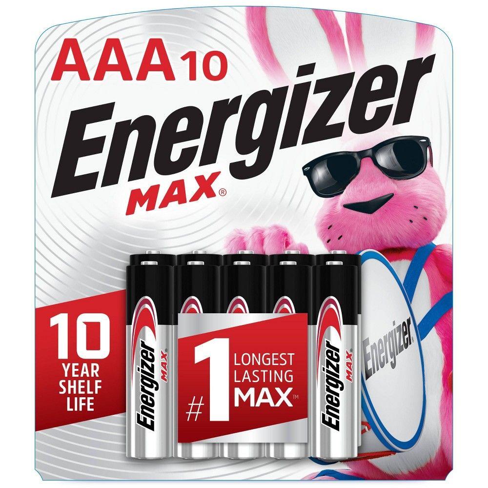 Energizer 10pk Max Alkaline Aaa Batteries Energizer Energizer Battery Batteries