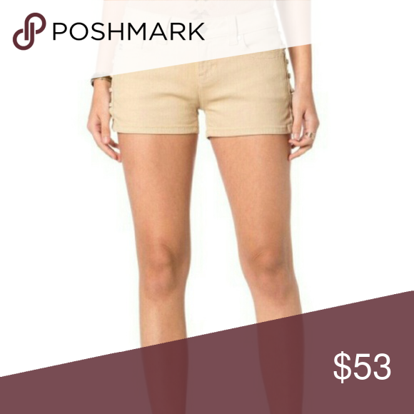 Spring Fling shorts Flirty short with grommets and lace-up detail on sides. Single-button closure and zip fly. Minimal hardware.  Front Rise: 8 ?? ; Back Rise: 13 ?? Inseam: 2 ??  Brand: Miss Me  Fiber Content: 78% cotton, 13% viscose, 7% polyester, 1% elastane Miss Me Shorts Jean Shorts