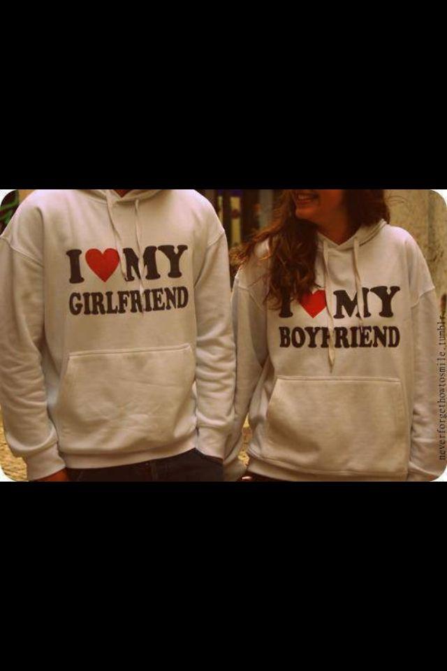 I Love My Boyfriend Girlfriend Sweatshirts How Cute Is This This